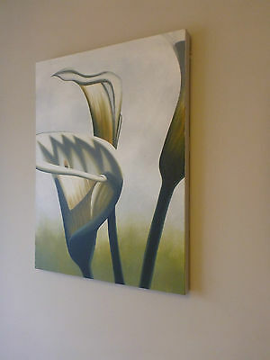 """Standing Tall"" Calla Lily Still Life Portrait Acrylic Canvas Painting"
