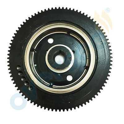 Electric Outboard E40X Rator ASSY/ FLYWHEEL 66T-85550-10 Fits Yamaha Outboard
