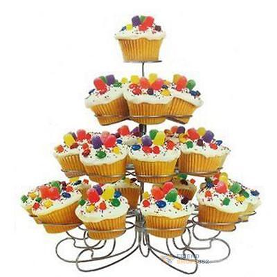 4 Tiers Cupcake Stands 23 Cups Tray Holder Party Dessert Cake Display Tower