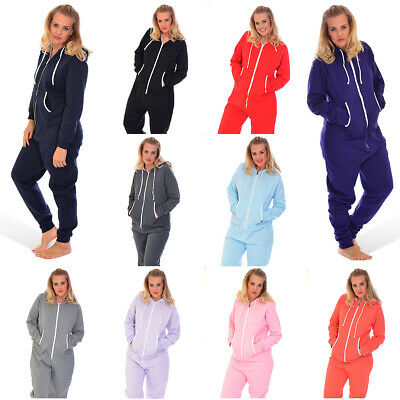 New Ladies Mens Onesie Plus Size All in One Warm Jumpsuit Fleece Hooded Nouvelle