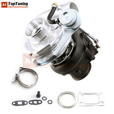 T3 T4 Turbo .63 A/R Oil Hybrid V Band Universal Turbocharger for 4 6 Cyl 420HP