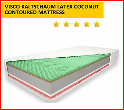 5Ft! Contoured Visco Memory Latex Coconut Kaltschaum Mattress Fast Delivery!free