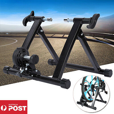 Pro Indoor BICYCLE TRAINER ROLLERS Magnetic Stand Cycling Training Home Gym AU