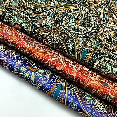 Brocade Damask Floral Fabric Jacquard Costume Curtain Upholstery Cloth 75*100cm