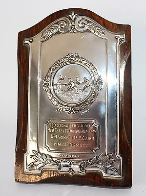 Collectable Vintage 1929  British Historical Sterling Silver Plaque Wwii #sm-120
