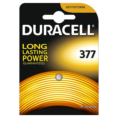 Duracell 377 SR626SW AG4 SR66 1.5V Silver Oxide Coin/Button Cell Watch Battery