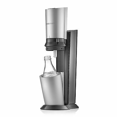 Sodastream Crystal With Glass Caraffe and Gas Cylinder