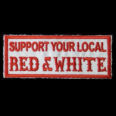 Hells Angels SUPPORT YOUR LOCAL RED & WHITE Aufnäher Patch 81 Support