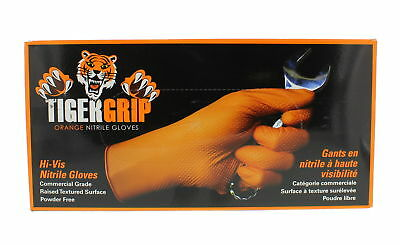 Eppco Tiger Grip Orange Nitrile Gloves 7 Mil Size Large