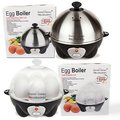 Clear Stainless Steel Electric 7 Egg Cook Boil Steam Poach Rapid Cooker Kitchen