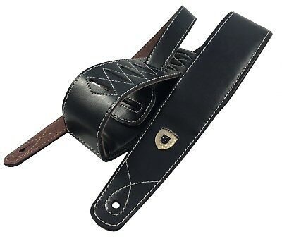 Genuine Leather Soft Padded SLIM SUPREME Guitar Strap Electric, Acoustic & Bass