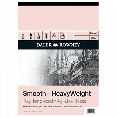 Daler Rowney HeavyWeight Cartridge Gummed Pad A2