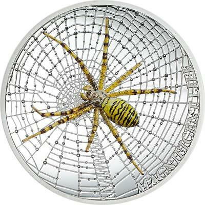 Cook Islands 2016 Magnificent Life Spider 2$ Silver 999 1Oz Silver Coin