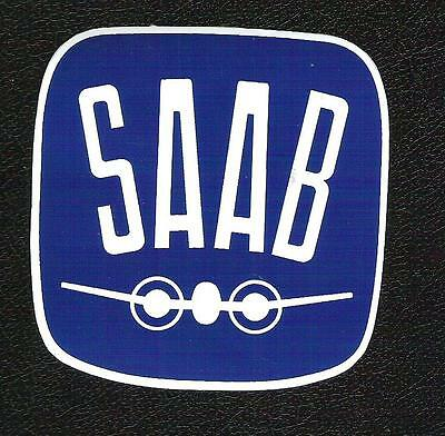 Saab Classic Airplane Logo Sticker, Vintage Sports Car Racing Decal