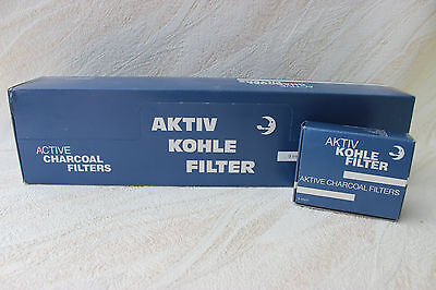 Brebbia Aktivkohle Filter 9mm - Pfeife / Pipe Aktivkohle Filter 10x40= 400 Stk.
