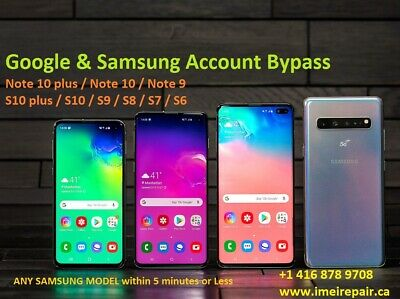 Samsung Galaxy ALL MODELS Google Account, FRP, Samsung Account Removal Service