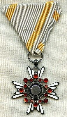 WWII Japanese Order of the Sacred Treasure 6th Class Medal in Nice Condition