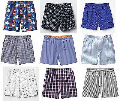 NWT GAP Men's 100% Cotton Classic Boxers Boxer Shorts S M L XL U Pick NEW!