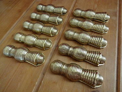 "10 X Brass ""beehive"" Door Escutcheons Key Hole Cover Plates"