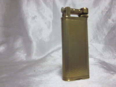 1955 Dunhill Gold Plated with Waves Design Slim Lift-Arm Petrol Lighter