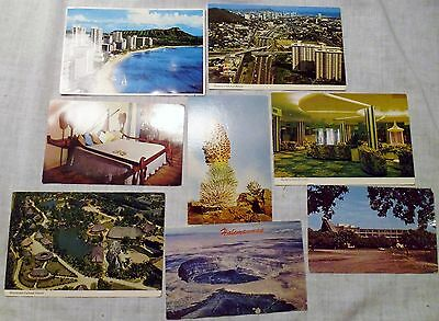 Lot of 8 Postcards Hawaii RPPC Vintage and Recent w/ Hotels