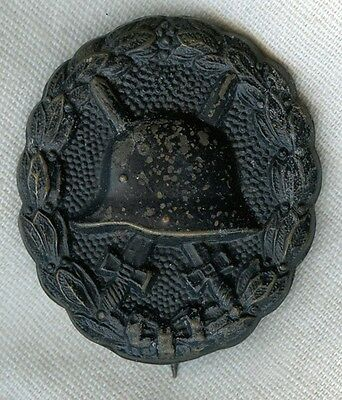 Imperial German WWI Black Wound Badge in Painted Brass