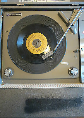 Vintage Voice of Music Model 216-3 Portable Record Player - Works