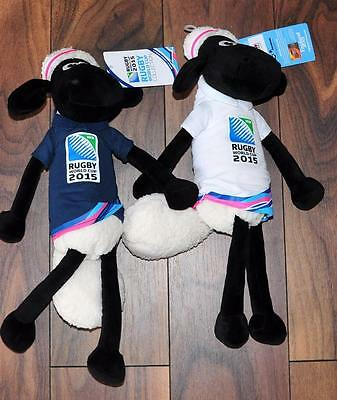 SHAUN THE SHEEP 2 x large soft toy 43cm 2015 OFFICIAL RUGBY MASCOT new with tag
