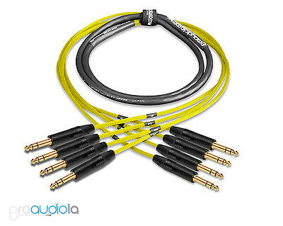 Premium 2 Channel Mogami 2930 SnakeNeutrik Gold XLR F to XLR MBlue 6 ft.