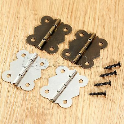 Wholesale Butterfly Hinges Cabinet Drawer Door Cupboard Hinges With Screw 2/10Pc