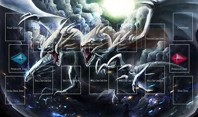 E33# Free Mat Bag Blue Eyes Ultimate Dragon Playmat Yugioh TCG Mat Card Zones