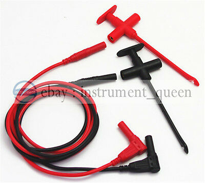 Insulation Piercing Clip test probe +1m/3ft/39 4mm Test Lead Silicone