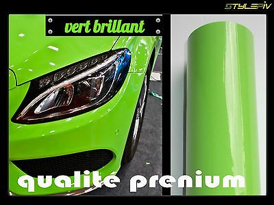film vinyle covering vert brillant 152 x 30 cm thermoformable adhesif