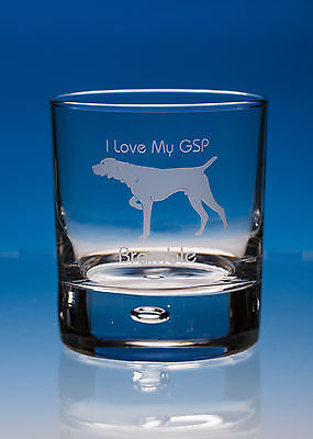 German Shorthaired Pointer Dog Gift Engraved Whisky Glass: Can Be Personalised