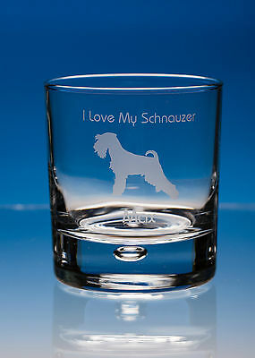 Schnauzer Dog Gift Engraved Whisky Glass: Can Be Personalised With Your Message