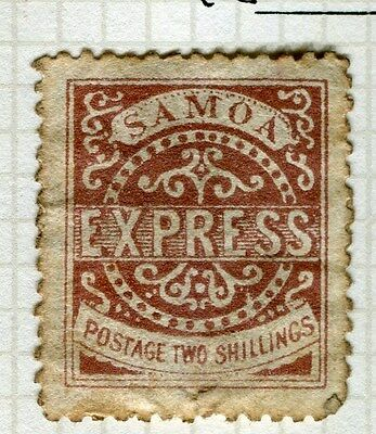 SAMOA;  1877 early classic issue P 12.5 Mint unused 2s. value