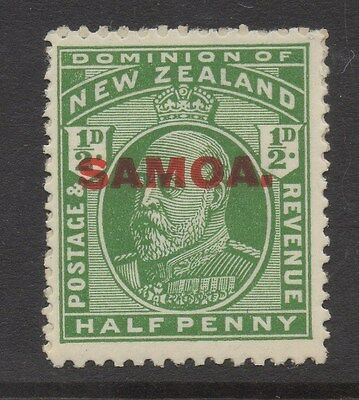 SAMOA;  1914 early NZ issue Mint hinged Optd. 1/2d. value