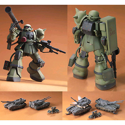 GUNDAM - 1/144 Zaku Ground Battles Set Model Kit HGUC Bandai