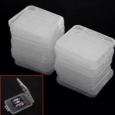 20 Pcs Clear Standard SD SDHC Memory Cards Jewel Case Holder Box Storage Sandisk