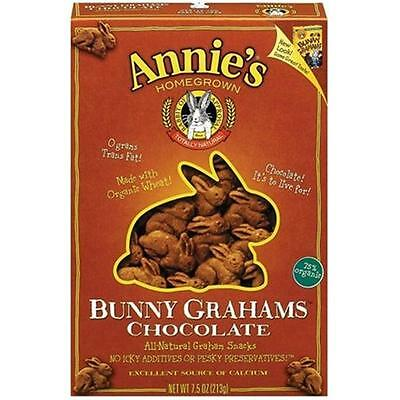 Annie'S Homegrown Chocolate Bunny Grahams 7.5 Oz -Pack of 12