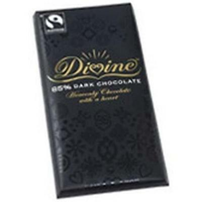 Divine Chocolate 85% Dark Bars 3.5 Oz -Pack of 10