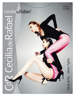 Cecilia de Rafael VIDRIO Sheen Tights Sheer to Waist Lycra Glossy Pantyhose