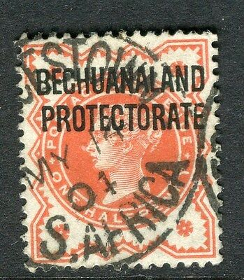BECHUANALAND;  1897 QV Bechuanaland Protectorate Optd. fine used 1/2d. Postmark