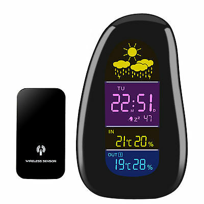 Cobblestone Shaped LED Wireless Digital Humidity & Temperature Weather Station