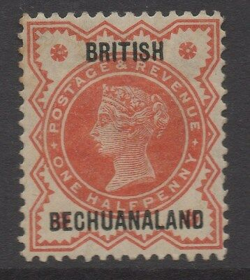 BECHUANALAND;  1890s early QV Optd. issue Mint hinged 1/2d. value