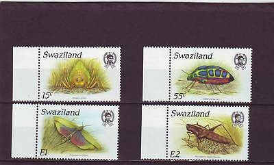 Swaziland - Sg541-544 Mnh 1988 Insects