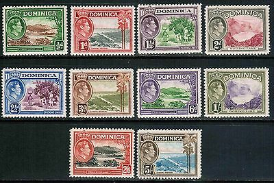 Dominica 1938-47 Sc#97//109,George VI Short Set, MLH , cp2