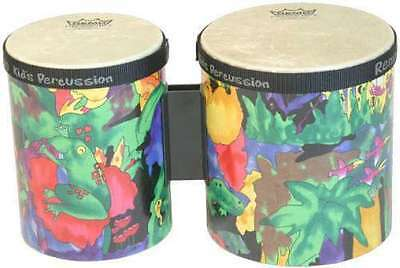 "Remo Kids Percussion Bongos 5"" & 6"" - Rain Forest"