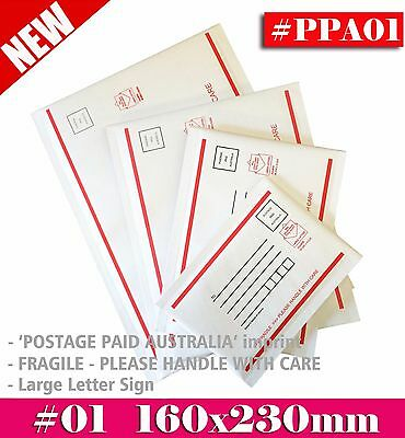 Bubble Mailer #01 160x230mm - Postage Paid Australia- Padded Envelope 200 / 500