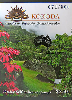 Australian Stamps: 2010 - Kokoda - Australia & PNG Joint Issue O/P Booklet MNH